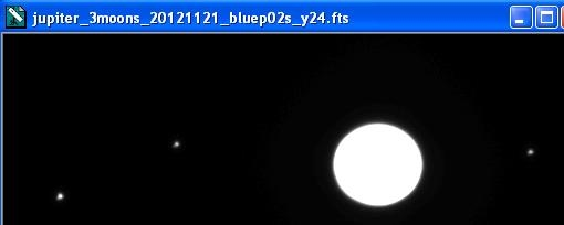 Jupiter and three moons